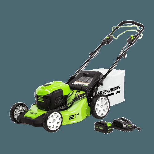 Greenworks 21-Inch 40V Brushless Self-Propelled Mower 6AH